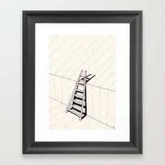 there's no way out of here Framed Art Print