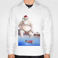 santa Hoodies featuring Santa by Matthew Lake