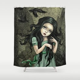 Shadow Wings Faerie Shower Curtain