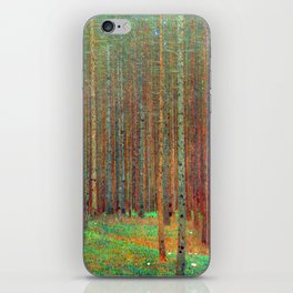 """Fir Forest"" by Gustaf Klimt iPhone Skin"
