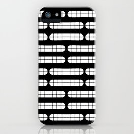 Grift Black & White Pattern iPhone Case