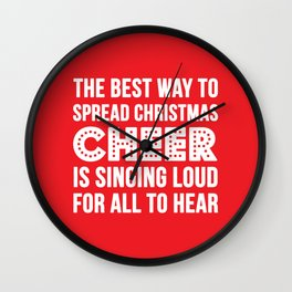Christmas Cheer Wall Clock