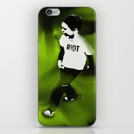 Riot On Green iPhone Skin