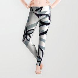 graffiti flowers : stripe Leggings