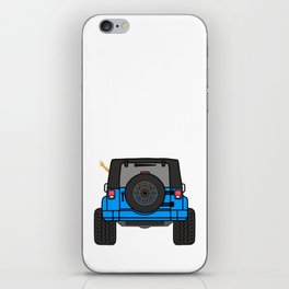 Jeep Wave Back View - Blue Jeep iPhone Skin