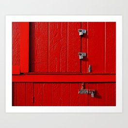 Red Cabinet Art Print