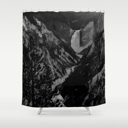 Great Falls - Black And White Shower Curtain