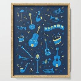 The Spirit of Jazz Pattern Serving Tray