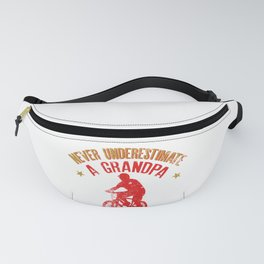Never Underestimate A Grandpa With A Bicycle Cool Gift Fanny Pack