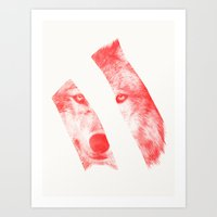 eric fan Art Prints featuring Red by Eric Fan & Garima Dhawan by Garima Dhawan