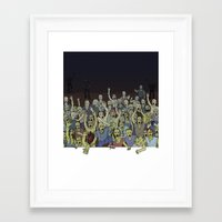 zombies Framed Art Prints featuring Zombies!!! by Justin McElroy