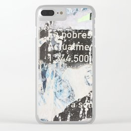Ode to Denia, Spain (Exhibit E) Clear iPhone Case