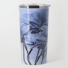 Painterly Blue Floral Travel Mug