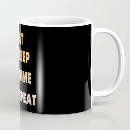 Eat Sleep Anime Repeat Coffee Mug