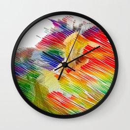 Serendipitous Happenstance Wall Clock