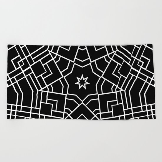 Map Star Beach Towel