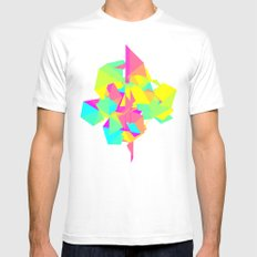 Abstract Rainbow Mens Fitted Tee White MEDIUM