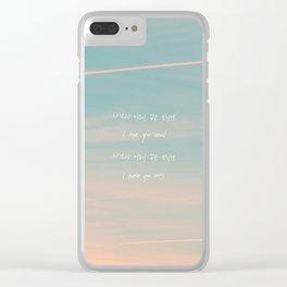 Seoul - RM Mono Clear iPhone Case