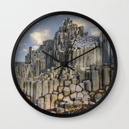The land of hexagonal pillars Wall Clock