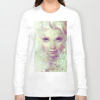 ice Long Sleeve T-shirts featuring Elsa by Anna Dittmann
