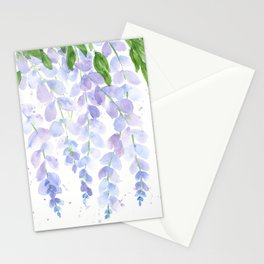 Wisteria Watercolor Print, Floral Watercolor by Liz Ligeti Kepler Stationery Cards