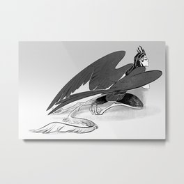 Half Harpy Metal Print