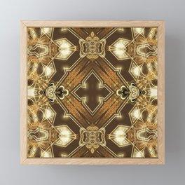 Golden Mali | Fractal Ruffles Framed Mini Art Print