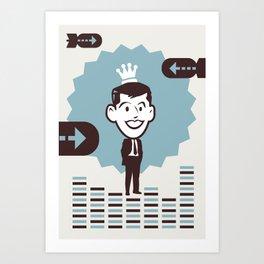 Businessman Art Print