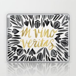 In Wine, There is Truth – Black & Gold Laptop & iPad Skin