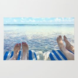 Lovers Toes over Key Largo Rug