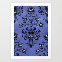 haunted mansion Art Prints featuring Haunted Mansion  by Katikut