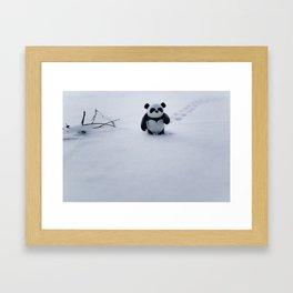 Zeke the Zen Panda Framed Art Print
