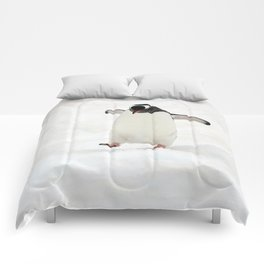 Gentoo Penguin on a Fishing Expedition Comforters