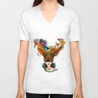 elk V-neck T-shirts featuring Elk by aileencopyright