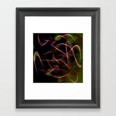 Night mystery in the garden Framed Art Print