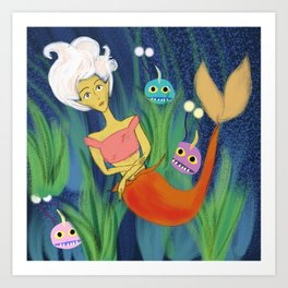 Whimsy and Friends Art Print