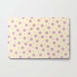 Lemonade Cherry Blossoms Metal Print