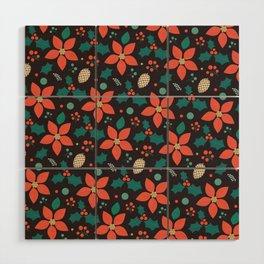 Deck the Halls - Black Background (Patterns Please) Wood Wall Art