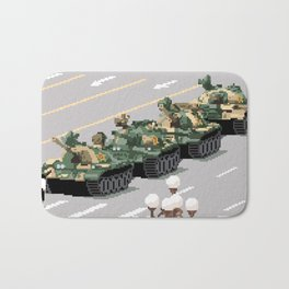 Pixelated Tank Man Bath Mat