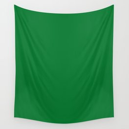 La Salle Green - solid color Wall Tapestry