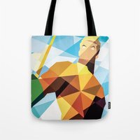 dc comics Tote Bags featuring DC Comics Aquaman by Eric Dufresne
