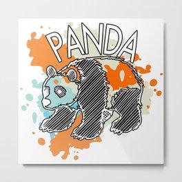 Panda Bear Gift Great China Bamboo Bear Metal Print
