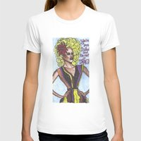 "rupaul T-shirts featuring RuPaul; ""You're Born Naked, And The Rest Is Drag!"" by DetRiotGirl"