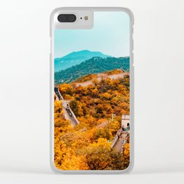 The Great Wall of China in Autumn (Color) Clear iPhone Case