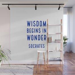 Wisdom begins in wonder - Socrates Wall Mural