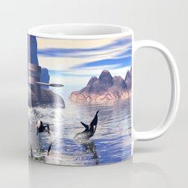 Submarine with orcas  Coffee Mug