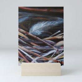 Left Behind Bird Nest Painting Mini Art Print