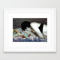 blankets Framed Art Prints featuring Blankets by Ben Giles
