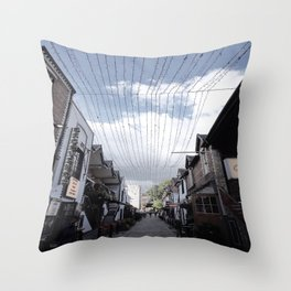 Streets of Glasgow Throw Pillow
