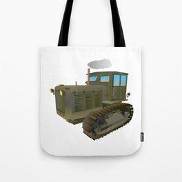 Soviet Vector Tractor Tote Bag